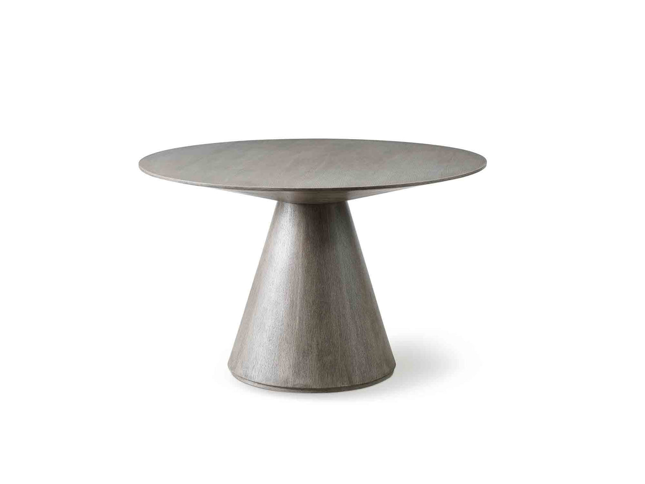 "Kiril Round Dining Table in Grey Oak - 47""D"