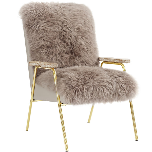 Sheepskin Armchair in Brown