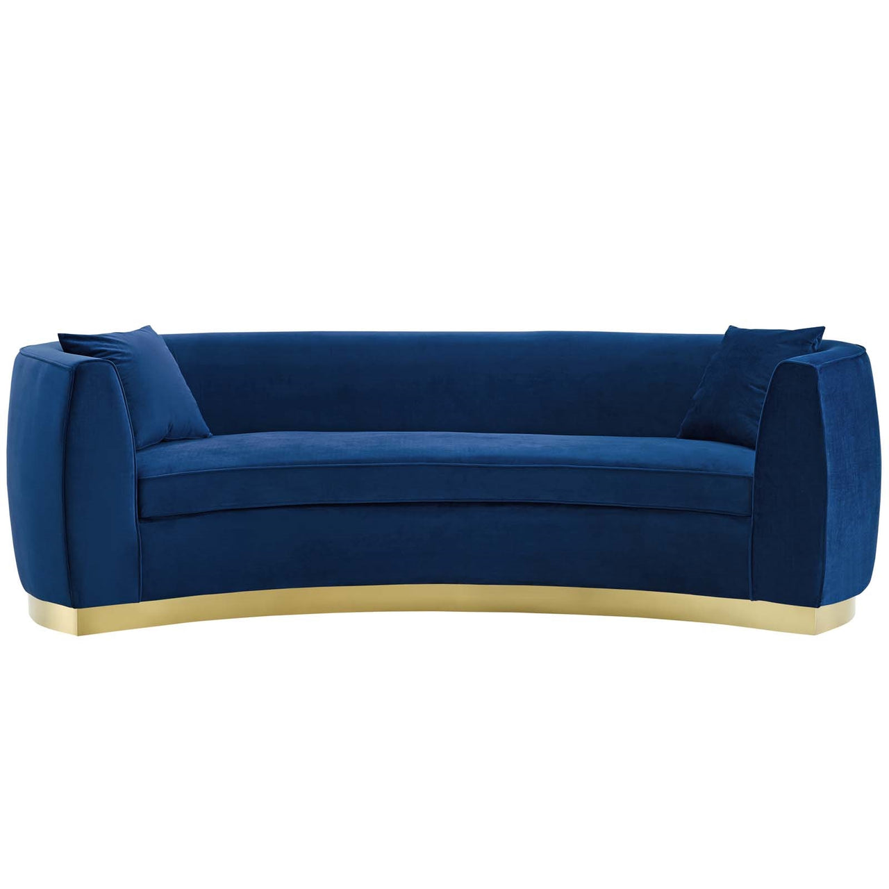 Curvy Velvet Sofa in Navy