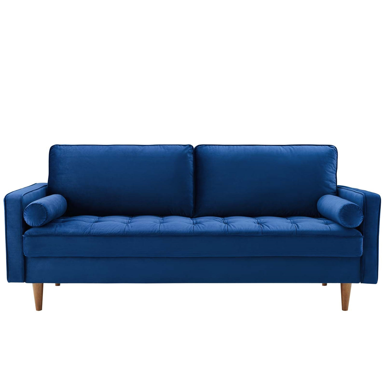 Valerie Velvet Sofa in Navy