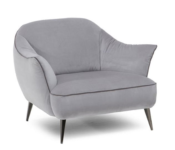Etzy by Natuzzi in Navy Velvet CT70