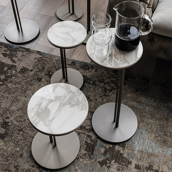 Sting Side Table with Calacatta Top