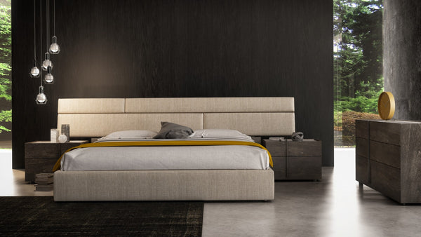 Plank Upholstered Bed