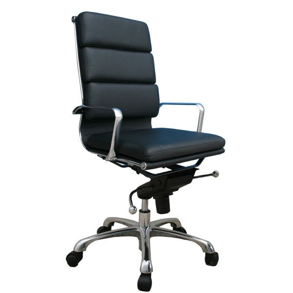 Piper Black High Back Office Chair - Euro Living Furniture