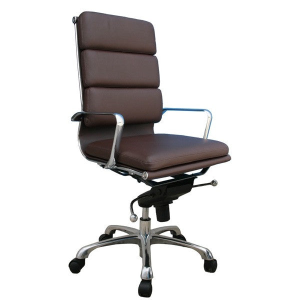 Plush High Back Office Chair - Euro Living Furniture