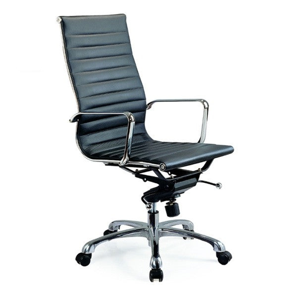 Carly Black High Back Office Chair - Euro Living Furniture