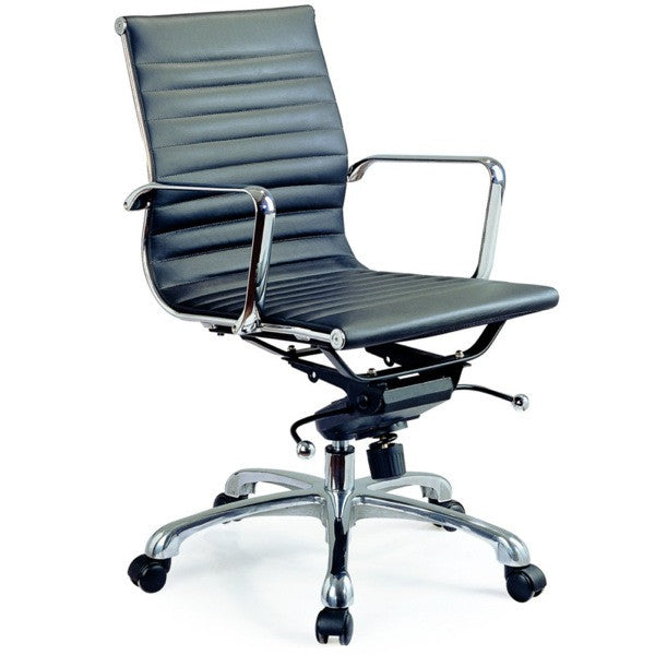 Carly Black Low Back Office Chair - Euro Living Furniture
