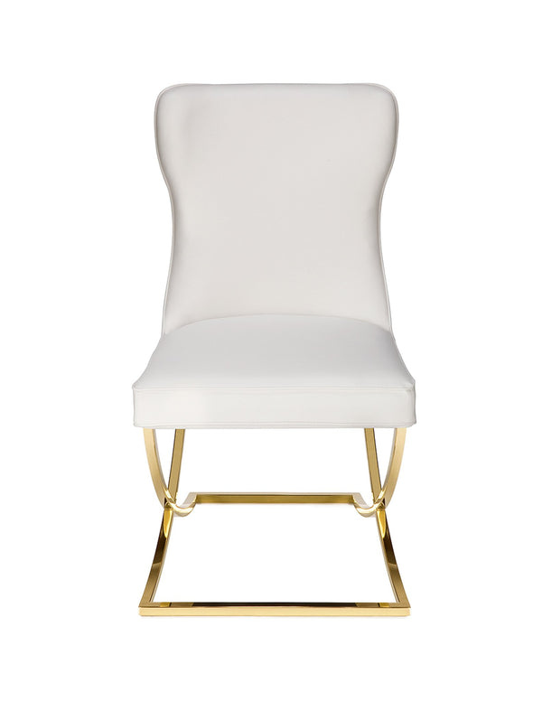 Jay Dining Chair (White/Gold)