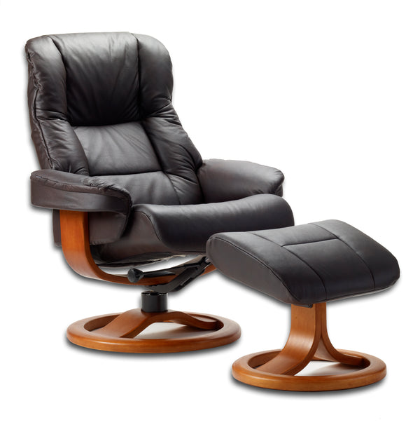Loen R Leather Reclining Chair in Havana