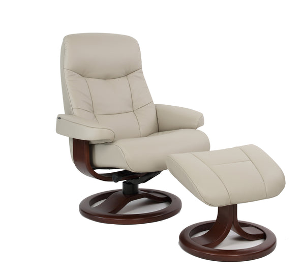 Muldal R Leather Reclining Chair in Dove