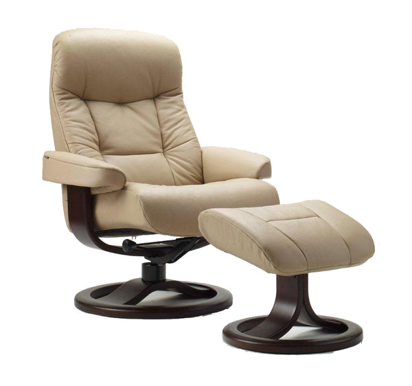 Muldal R Leather Reclining Chair in Sandel