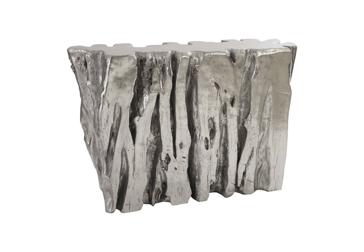 Freeform Console Table Silver Leaf