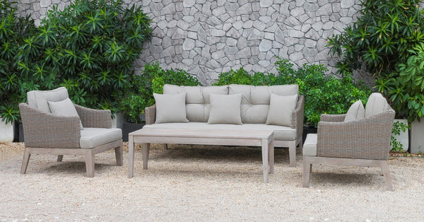 Celia Outdoor Beige Sofa Set