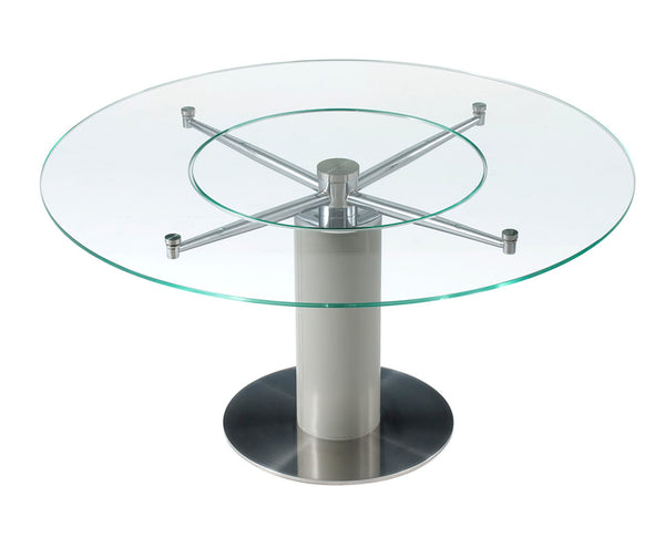 Ramona Round Dining Table with Lazy Lusan
