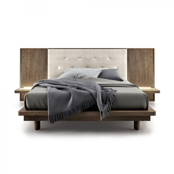 Surface Upholstered King Bed with Extensions