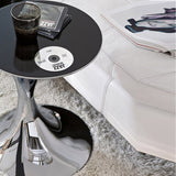Andorra Modern Round End Table - Euro Living Furniture