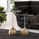 Adachi Modern Round End Table - Euro Living Furniture