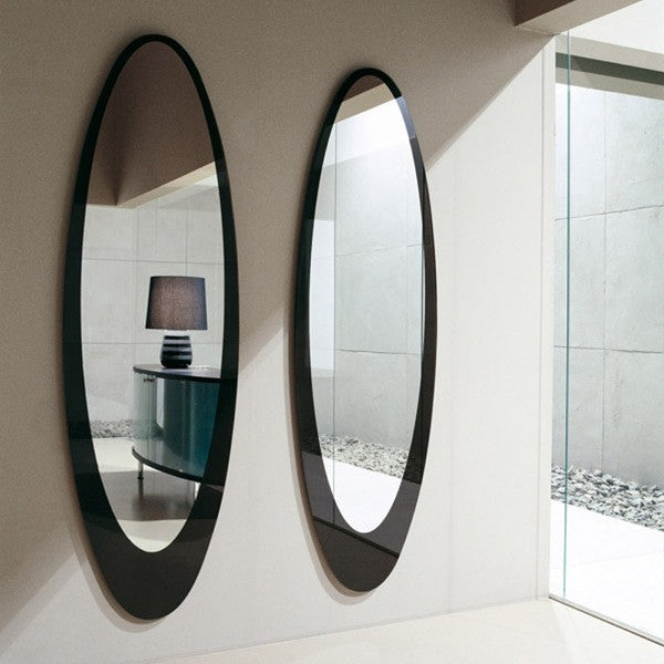 Olmi Contemporary Oval Mirror - Euro Living Furniture