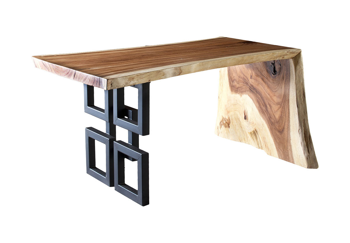 Aaron Desk Chamcha Wood - Euro Living Furniture