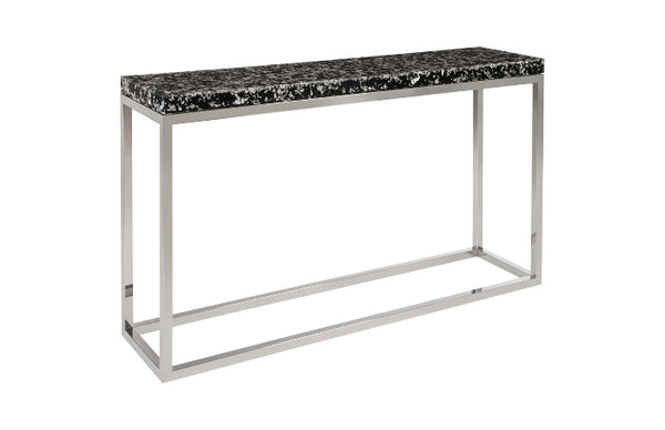 Captured Silver Flake Console Table with SS Base