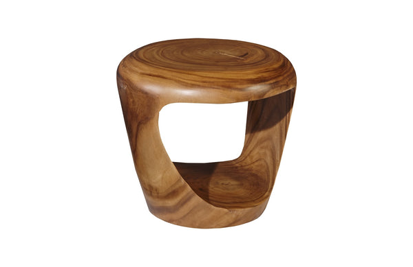 Grotto Side Table Chamcha Wood, Natural