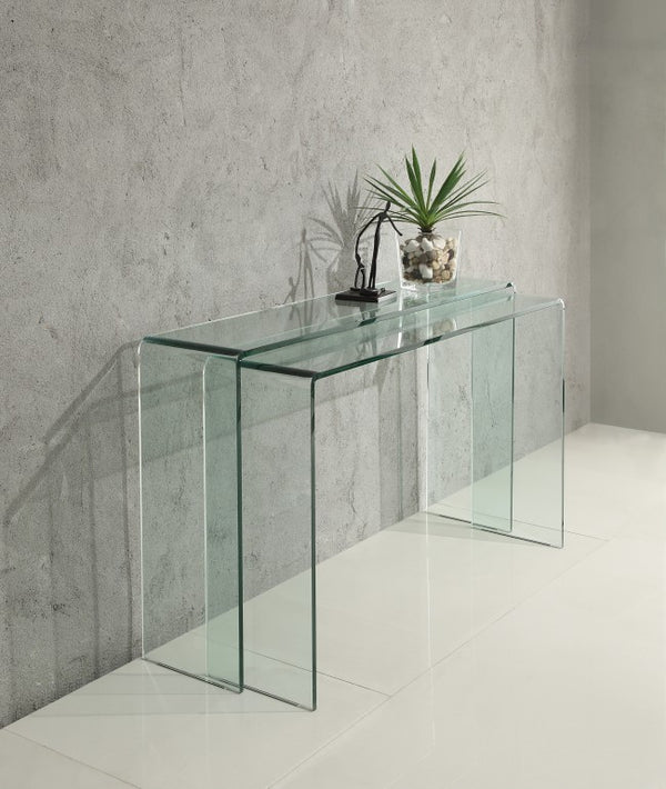 Visio Glass Console Table