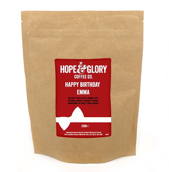 Personalised Label Birthday Coffee