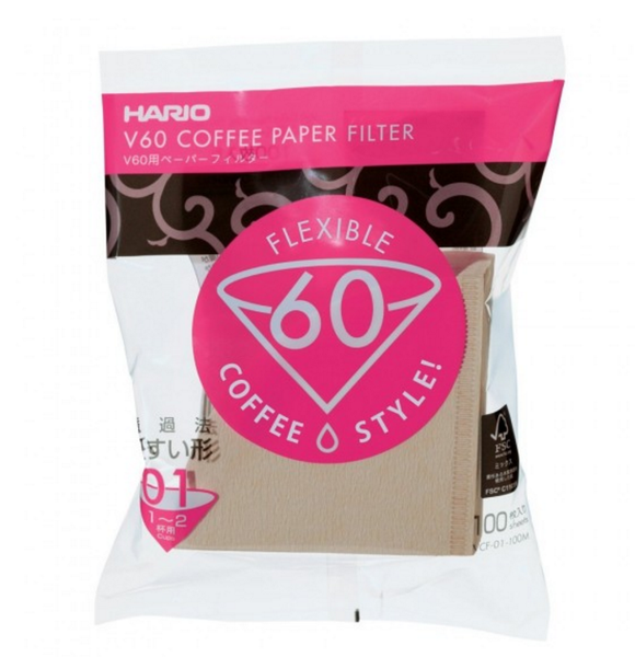 Hario V60 White Filter Papers 01 (100 Sheets)