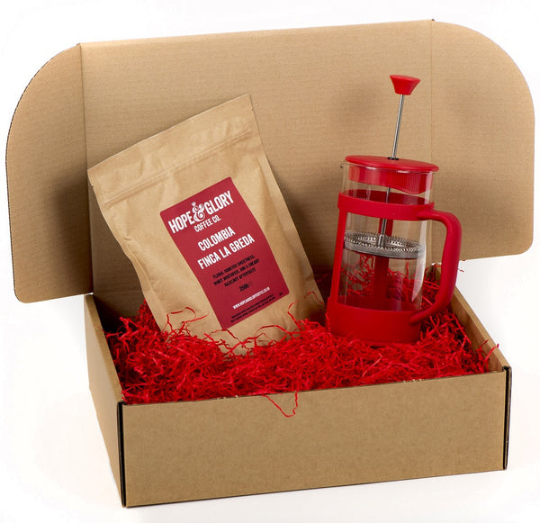 Cafetiere coffee gift basket - Hope & Glory Coffee Co