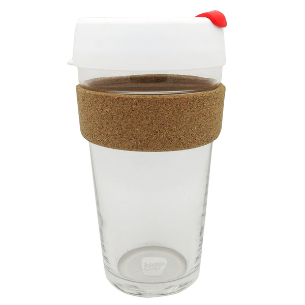 Limited Edition Hope & Glory Glass 16oz KeepCup (White + Red)