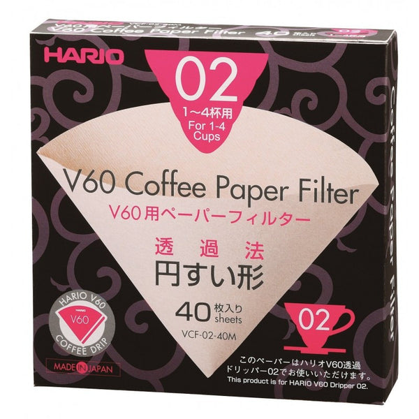 Hario V60 White Filter Papers 02 (40 Sheets)