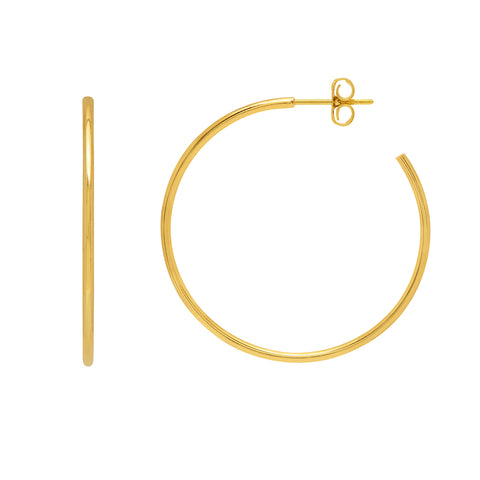 Estella Bartlett Large Gold Hoop Earrings