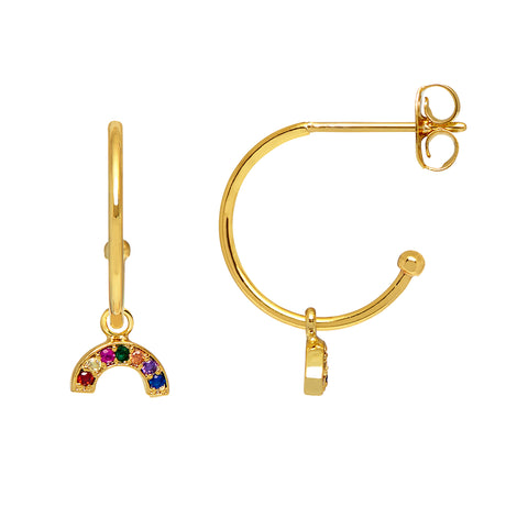 Estella Bartlett Mini Rainbow Earrings