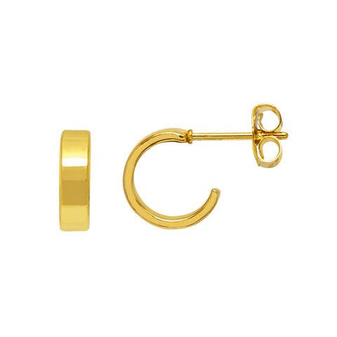Estella Bartlett Minimalist Flat Hoop Earrings - Gold