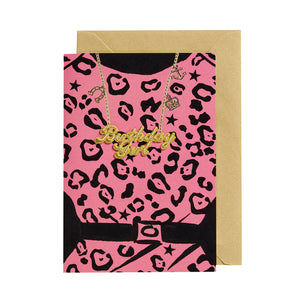 Birthday Girl Card - Necklace/Leopard