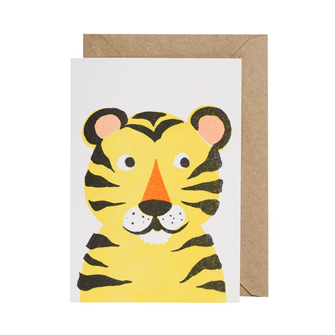 Paper Balloon Card - Tiger
