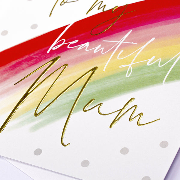 Painterly Rainbow Mum Card