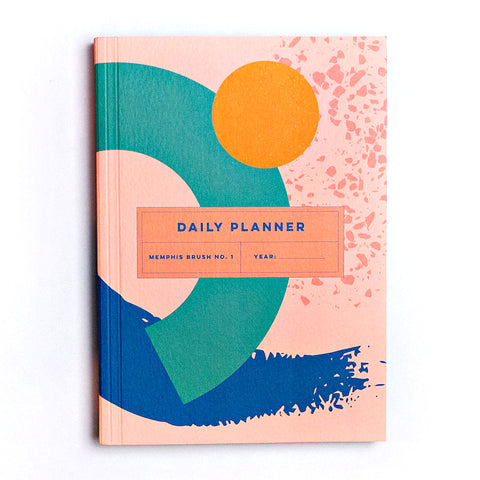 Daily Planner - Memphis Brush No.1 - The Completist