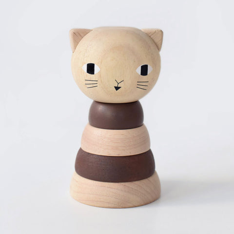 Wee Gallery Wood Stacker - Cat