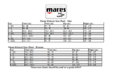 Mares Manta 2.2mm Male Female Shorty New Style