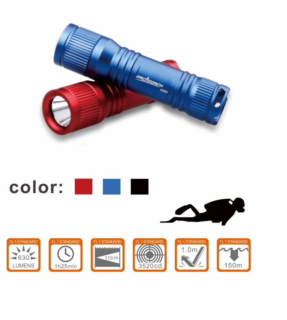 Orca Torch D560 Mini Diving Flashlight