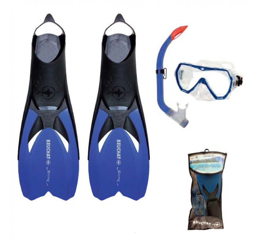Beuchat Jetta Mask, Snorkel and Fins Pack