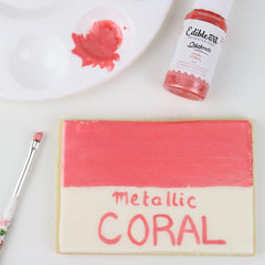 Edible Art Decorative Paint  SHAWNA McGREEVY METALLIC CORAL