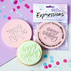 OUTBOSS Expressions - ELEGANT  HAPPY BIRTHDAY