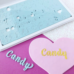Sweet Stamp: CANDY Full Uppercase And Lowercase
