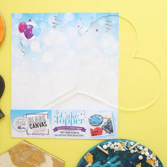 SWEET STAMP: Blank Canvas HEART TOPPER