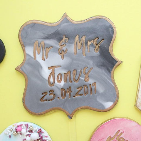 SWEET STAMP: Blank Canvas PLAQUE TOPPER
