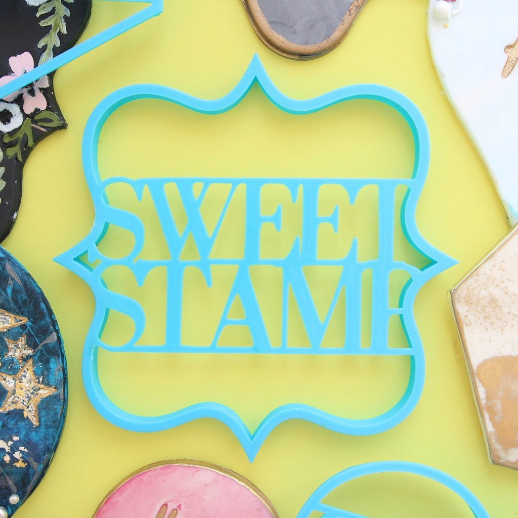 SWEET STAMP: Blank Canvas PLAQUE COOKIE CUTTER