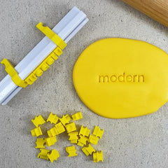 MODERN Letter Stamps - Custom Cookie Cutters