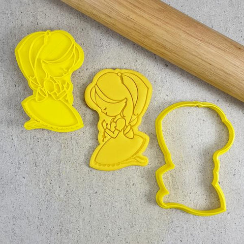 """COMMUNION GIRL CUTTER AND EMBOSSER 047G"" Custom Cookie Cutters"